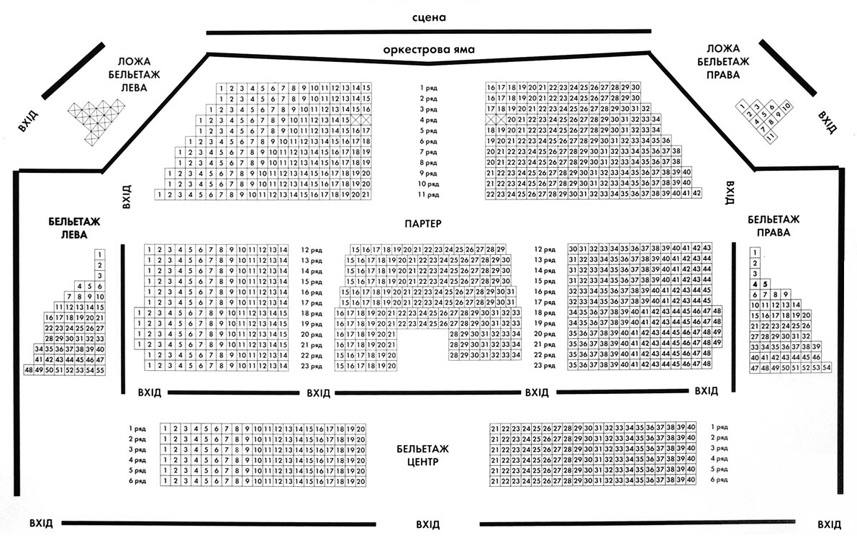 Театр музкомедии одесса схема зала