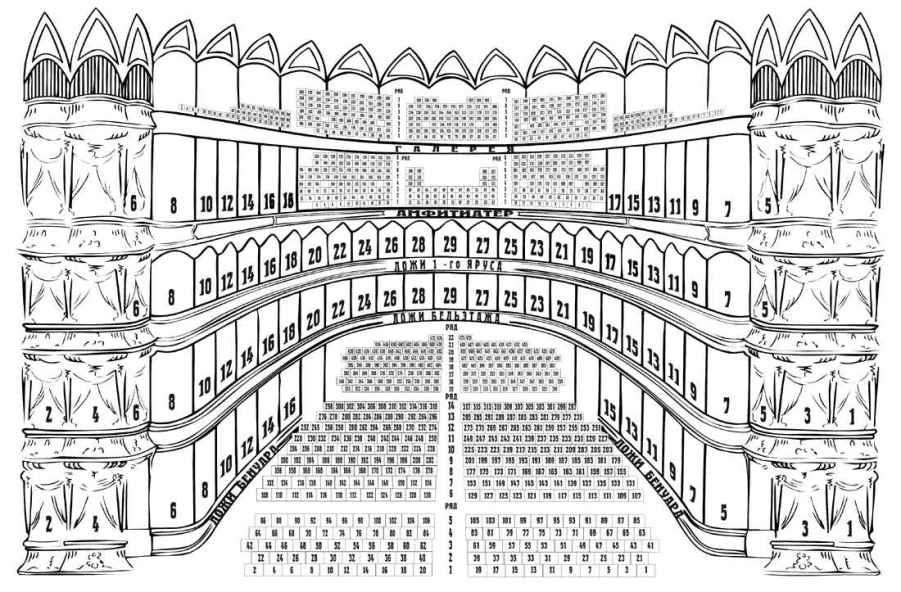 фестиваля еще нет, как план зрительного зала одесского оперного театра.